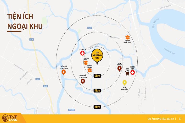 Tien ich ngoai khu tt city millennia Top 1 Dự Án Nam Sài Gòn: T&T City Millennia Long Hậu