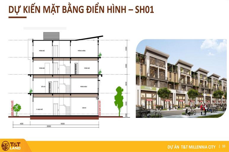 mat bang shophouse 1 tt city millennia Top 1 Dự Án Nam Sài Gòn: T&T City Millennia Long Hậu