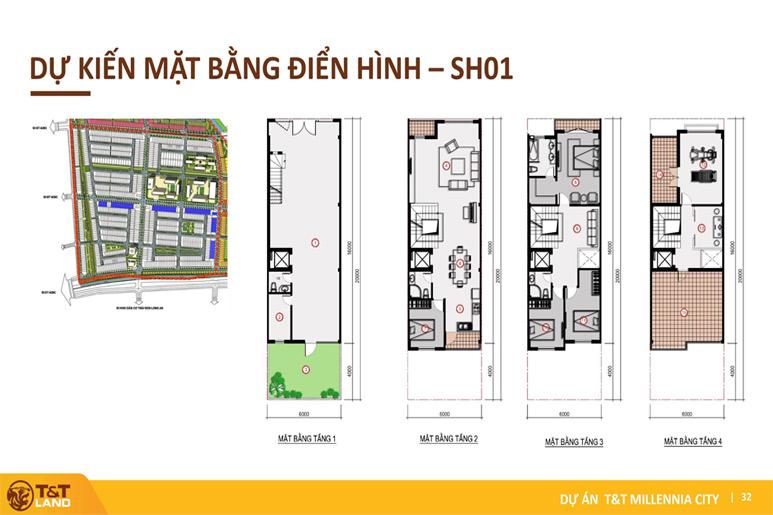 mat bang shophouse tt city millennia Top 1 Dự Án Nam Sài Gòn: T&T City Millennia Long Hậu